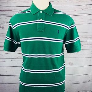 Polo Ralph Lauren large green striped polo shirt